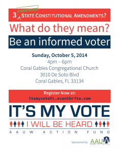 It's My Vote Be an informed voter 2014 Flyer